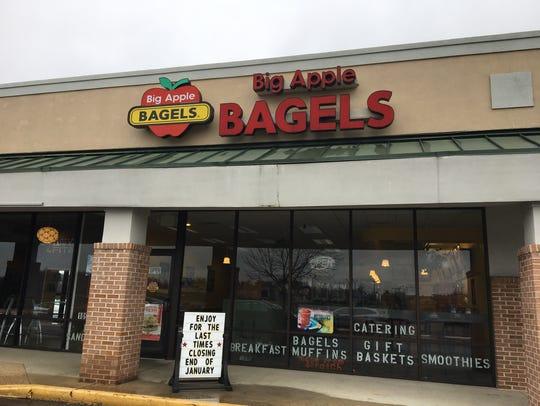 Big Apple Bagels in Waynesboro is set to close at the