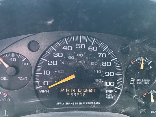 The odometer on a 1999 Chevrolet 2500 cargo van is about to hit 1 million miles.