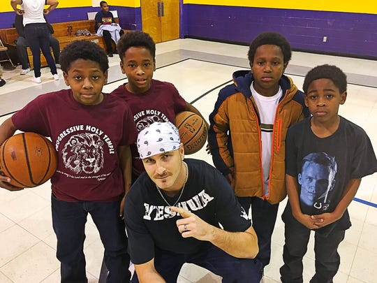 NYE bash Curtis Hardy of BODY-BUILDERecords812 threw a family friendly New Year's Bash at Faith Heritage Christian School. Partygoers Evan Rhoades, Devan Rhoades, Kyrelle Mann and Elijah Lafayette were treated to free food, a live DJ, games and giveaways in a safe environment.