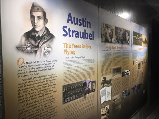 A mural about the life of World War II hero Austin