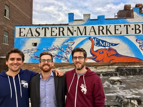 From left, Eastern Market Brewing Co. co-owners Paul