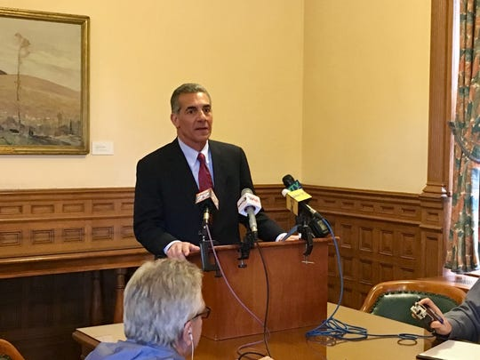 Assemblyman Jack Ciattarelli, shown at a news conference