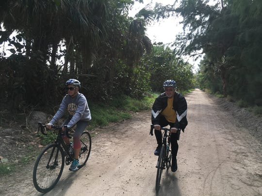 Anne Satterlee of Vero Beach and Mike Brunner of Fort Pierce were part of a recent Escape Adventures' Jungle Trail Intercoastal Ride along the Indian River Lagoon in northern Indian River County.