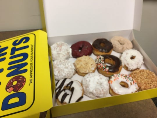 An assortment from Dippin' Donuts in Halls