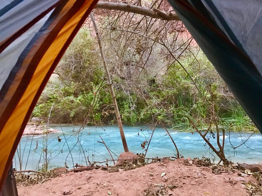 Room with a view at the Havasupai campground on Nov.