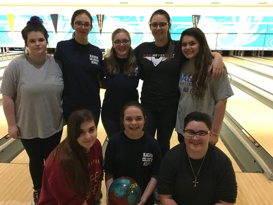 Blackman's girls bowling team includes (front row,