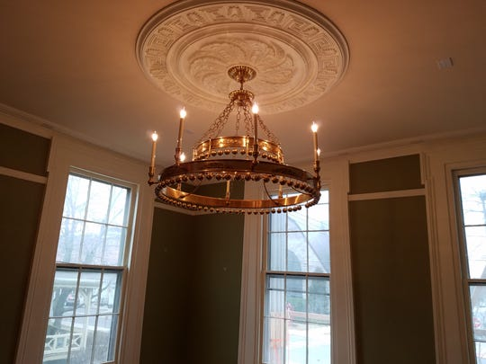 The chandelier in the Chamber's new conference room.