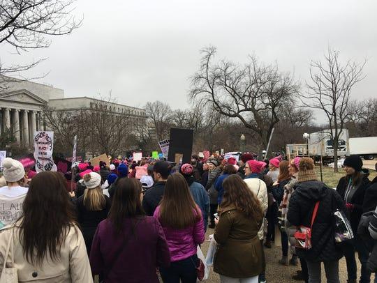 Marchers flood the streets of Washington, D.C. on Saturday
