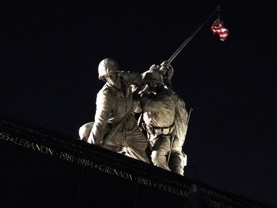 "The ""Iwo Jima"" U.S Marine Corps Memorial, photographed by Emma Garcia of the Salinas Valley Dream Academy on the group's trip to Washington, D.C."