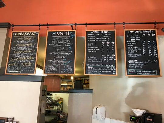 The menu board at Linden Street Cafe in Old Town Fort Collins