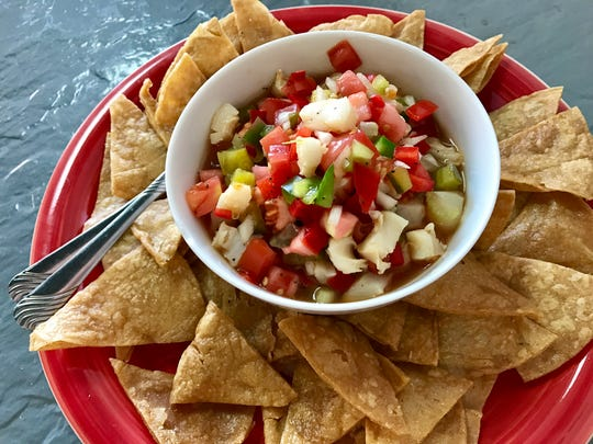 Bahamian conch salad from Caribbean Flair in Cape Coral.