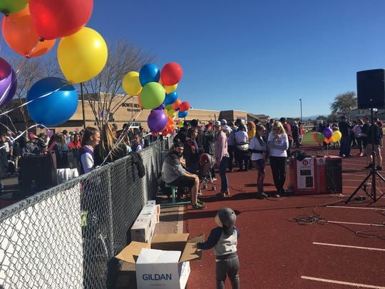 The Family Walk and Pancake Breakfast fundraiser at Queen Creek High School on Jan. 28, 2017, raised money for the Arnett family, who lost a mother and child in a house fire Jan. 25, 2017.