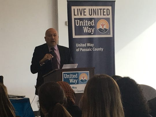 Paterson Mayor Jose Torres at the launch of the United Way of Passaic County's sixth year of the Volunteer Income Tax Assistance program.