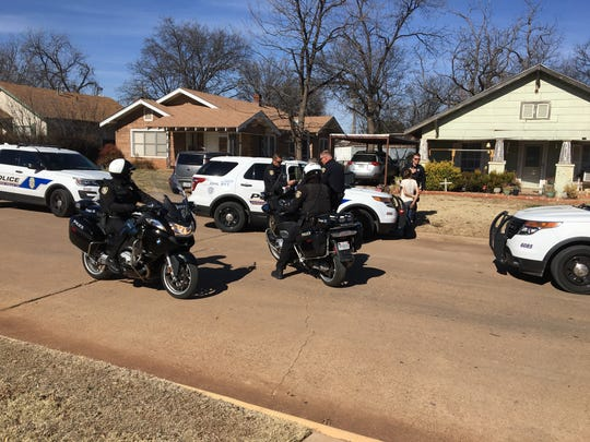 At one time, 16 Wichita Falls police units were involved in a search for fleeing suspects near Kell and Pennsylvania Tuesday afternoon.