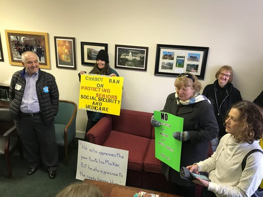 A group of about 20 people, some members of Warren County's Democratic Party, visited U.S. Rep. Steve Chabot's office in Lebanon last week. They were there to speak up about his stance on repealing the Affordable Care Act.