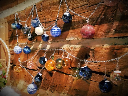 Hand blown glass globes can be Christmas ornaments,