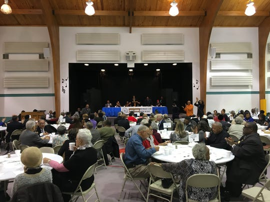 "Close to 200 gathered for the ""Unity Prayer Breakfast"" on Saturday, Feb. 4, 2017, at St. Paul's United Methodist Church in Staunton, Va."