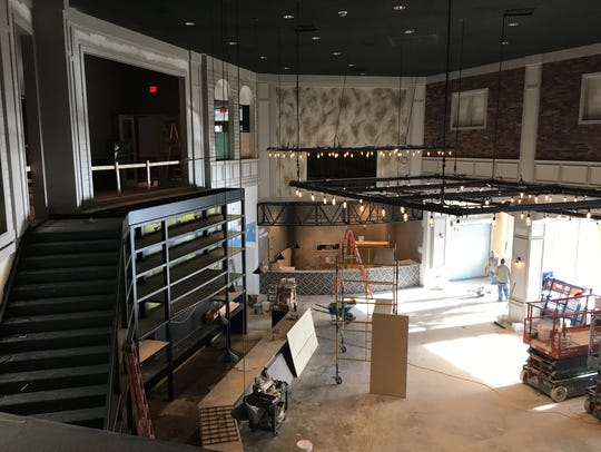 Overlooking the construction of Riverview Restaurant