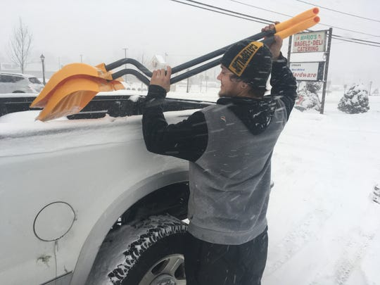 Jacob Vizzi, 21, of West Milford was buying more shovels after he broke one shoveling on Feb. 9, 2017.