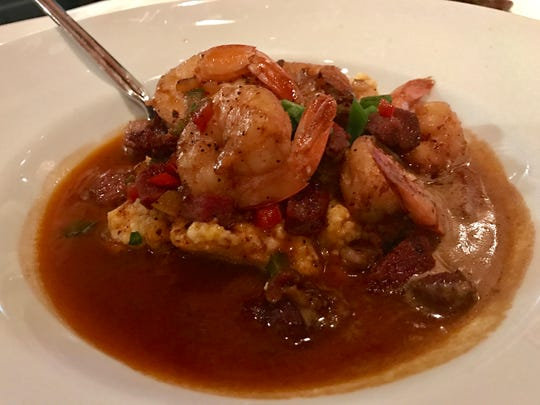 Shrimp and grits with tasso from Twisted Vine Bistro