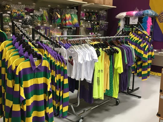 Mardi Gras Rugby shirts available at Bead Busters and
