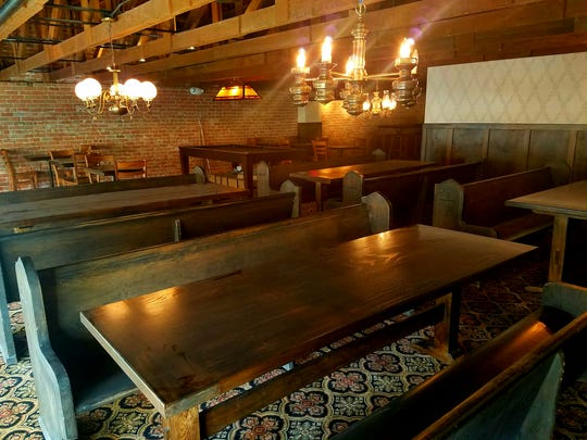 Upstairs seating area at Cornish Pasty Co. in downtown Phoenix.