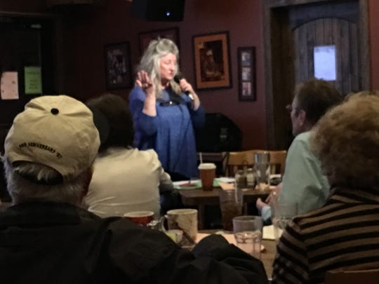 Charmaine O'Rourke invites local Democrats to join the newly formed protest group Ruidoso Indivisible in Opposition to Tyranny.