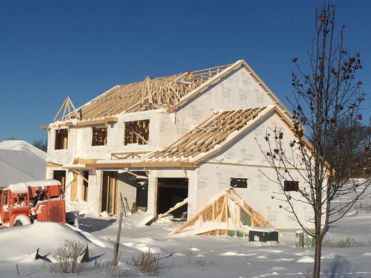January home building permits flat