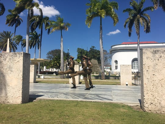 Every half-hour, Cuban soldiers perform a changing
