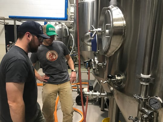 Brent Cordle of Odell Brewing, left, and Christian