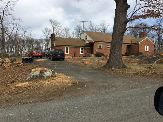 This is the home where a woman was run over by her