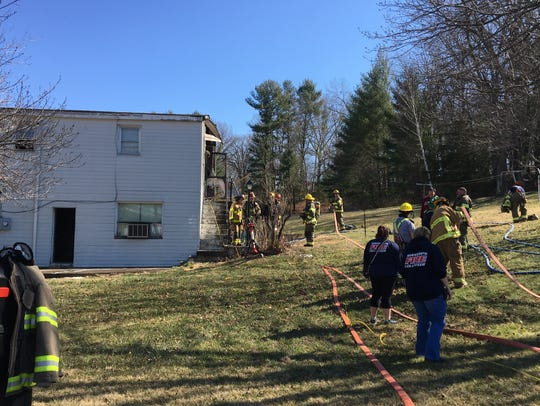 Crews responded to a fire on Miss Phillips Road in