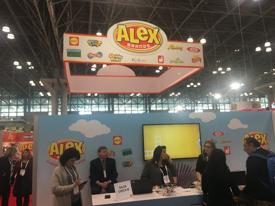 Fairfield-based Alex Brands is showcasing 200 new products at Toy Fair.