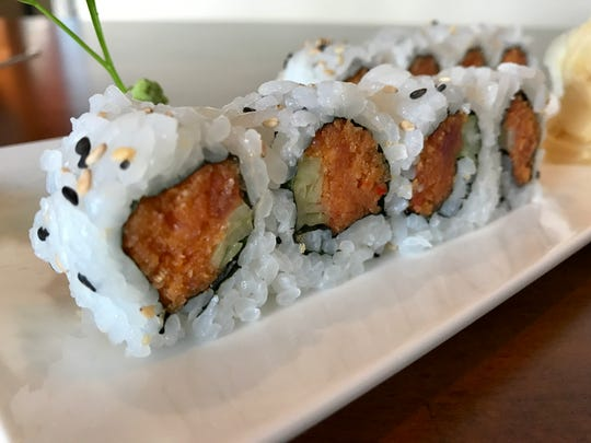 A spicy tuna roll from Bentofu in Fort Myers.