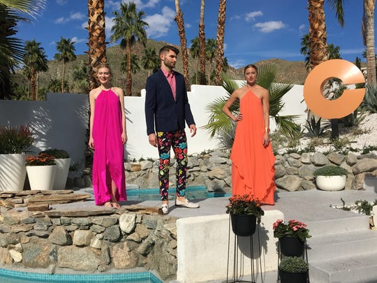 Trina Turk fashion show at Villa Golightly - the location of the 2017 Christopher Kennedy Compound part of Palm Springs Modernism Week. (Feb. 21, 2017)