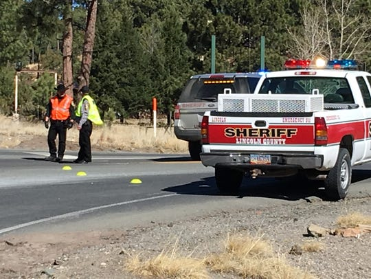 Ruidoso Police, Lincoln County Sheriff officers and