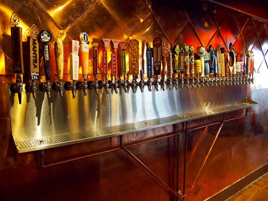 Enjoy one of the 34 beers on tap.