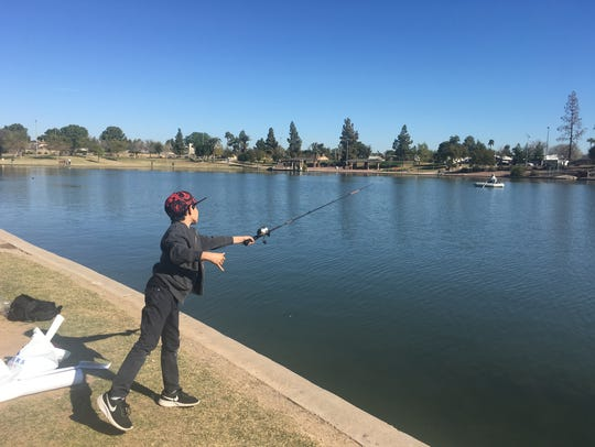 "The ""Just for Kids"" Fishing Festival in Tempe at Kiwanis"
