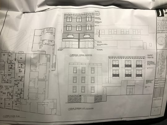 Sketch plans of the renovation project.