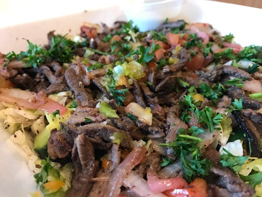 The shawarma salad from Kabab Village.