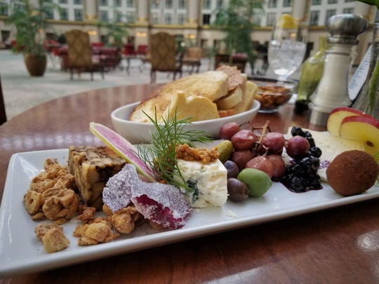 Lindsey's cheese board at Ballard's in West Baden includes