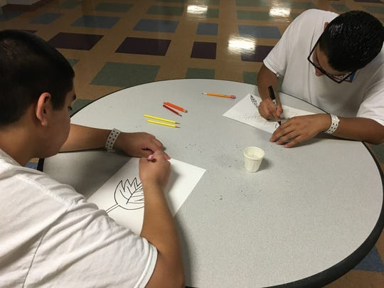 "Incarcerated teens take part in the Ventura County Arts Council's ""Arts and Juvenile Justice"" program. With grant funding, the council hires artists to teach topics such as poetry, drumming, guitar and crochet."