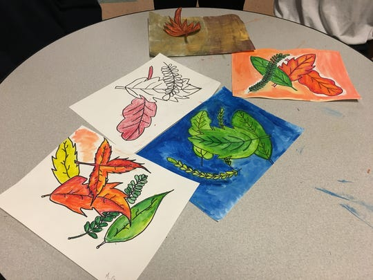 Some of the artwork created by teens incarcerated in