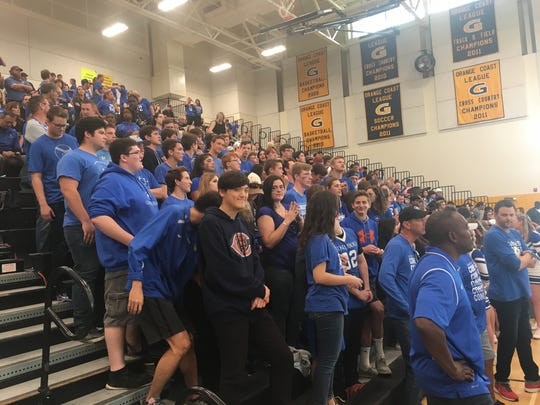 Hundreds of fans decked out in Desert Christian Academy blue filled the stands at Godinez High School on Saturday.