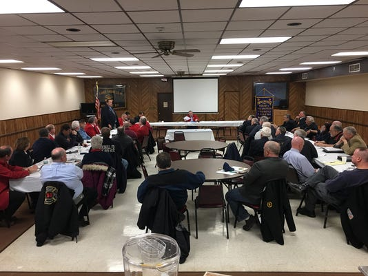 Firefighters' Assocation meeting