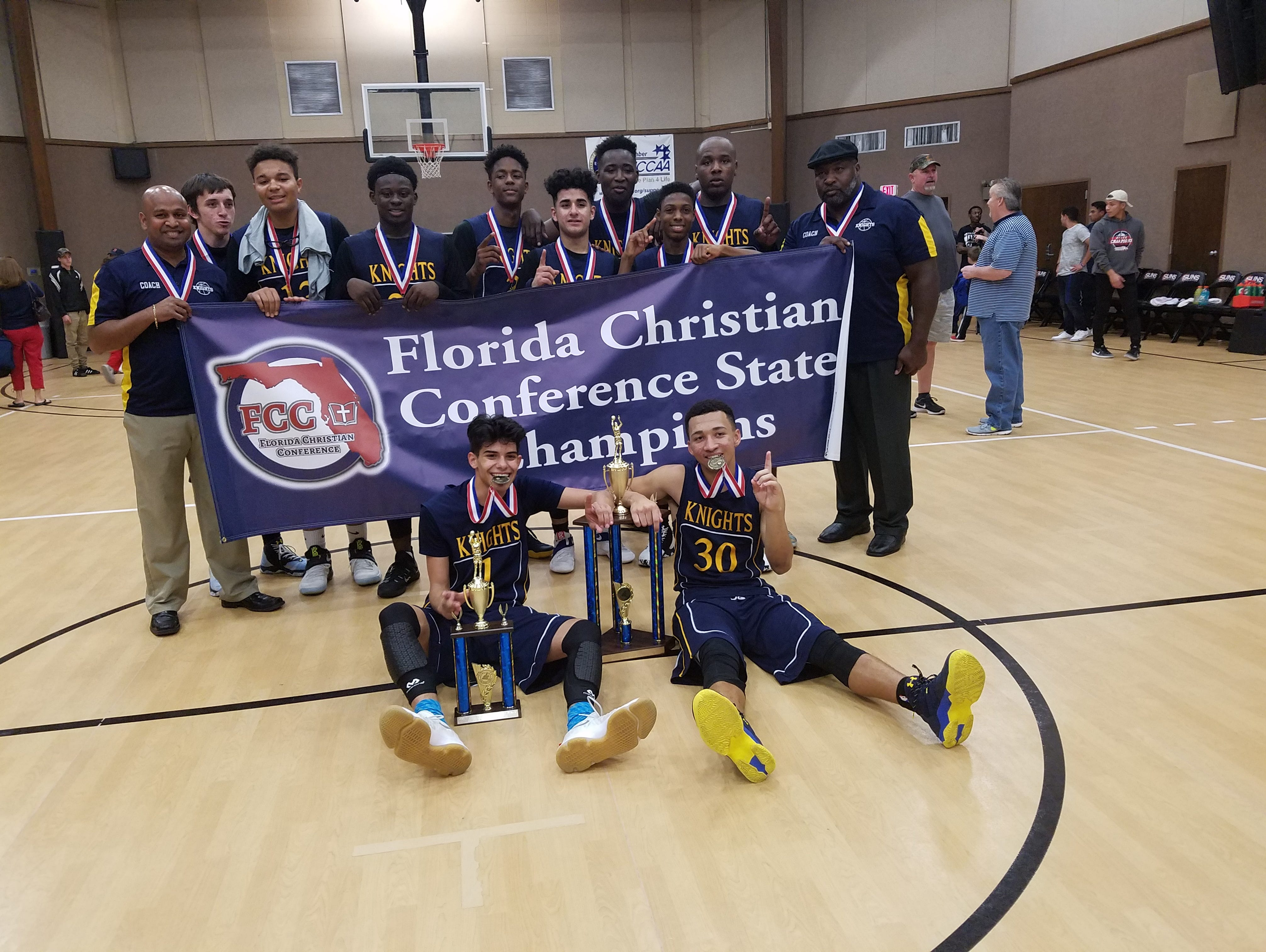 The West Melbourne Christian Academy Knights boys' basketball team was the Florida Christian Conference state champions, as well as runners-up in its division in the National Association of Christian Athletes tournament.