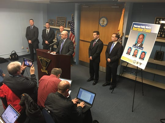 A news conference was held Tuesday to announce charges against Paterson Mayor Joey Torres and three public works employees.