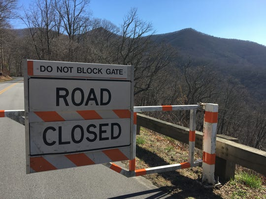 The Blue Ridge Parkway is closed to all visitors between