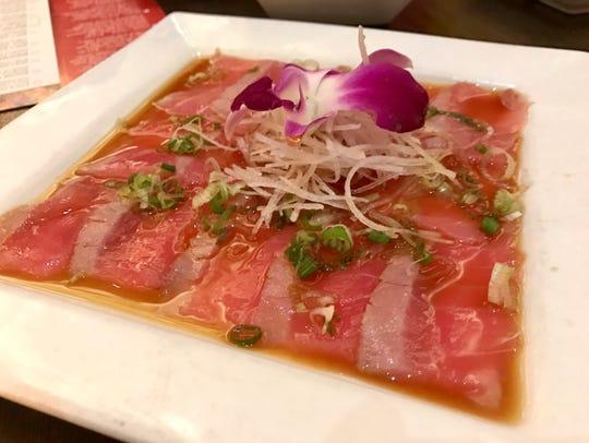 Tuna tataki from Brahma Sushi Lounge at Gulf Coast