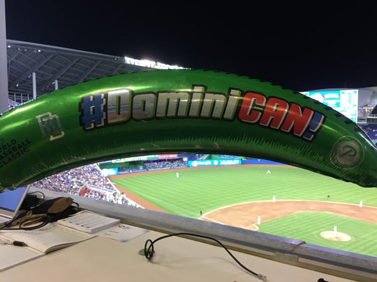 Fans of the Dominican Republic received plantain-shaped